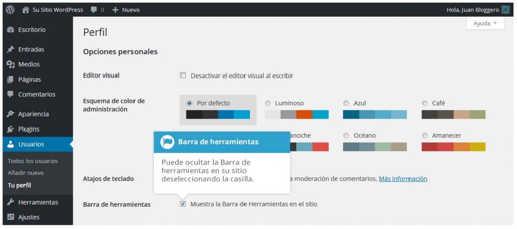 ocultar_barra_de_herramientas_Wordpress