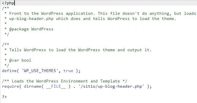 WordPress index.php